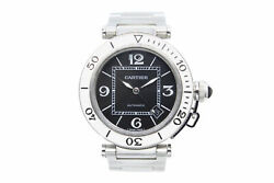 Pasha Seatimer W31077m7 Stainless Steel Automatic Black Dial Mens Watch