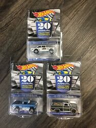 2020 Hot Wheels 20th Nationals Convention 3-car Set Chevy Dodge Gmc