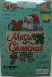 DANGLERS MEOWY CHRISTMAS CAT Kit Counted Cross Stitch
