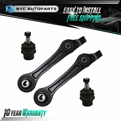 2x Front Lower Rearward Control Arm + 2x Ball Joint For Charger Challenger Rwd
