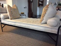 Antique Iron Daybed W/french Mattress And Bolsters