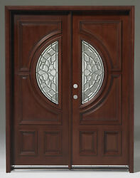 Limited Quantitysolid Wood Mahogany Front Unit Pre-hungandfinished Dmh7587-5-gl22