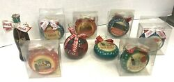 Lot Of 9 Coca-cola Coke Christmas Ornaments 6 New 3 Lightly Used Free Shipping