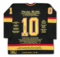 Pavel Bure Career Jersey 1 Of 199 - Autographed - Vancouver Canucks