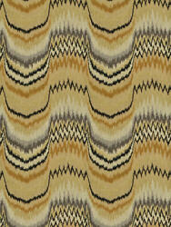 Clarence House Fitzgerald Flame Stitch Cut Velvet Fabric 5 Yards Camel