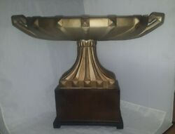 Large Austin Productions 22 Wide Compote Sculpture Signed Art Deco Style