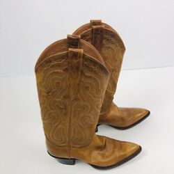 Sterling Women's Cowboy Boots Size 6B Brown Distressed $19.99