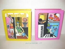 Vintage 1971 Hoyle Stancraft Super Sport Series Basketball And Bowling Card Games