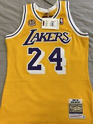100 Authentic Mitchell And Ness Kobe Bryant Los Angeles Lakers 2007-08 Jersey
