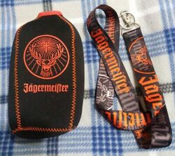 Jagermeister Bottle Cover And Lanyard W/ Clip/ Keychain Ring
