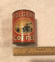 Vintage Advertising Folgers Coffee Puzzle In Tin Can Promotional Item Complete