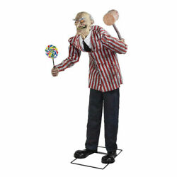 Halloween Carnival Circus Clown Life Size Animated Prop Candy Haunted Decor