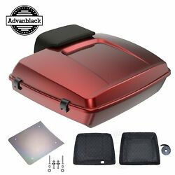 Hard Candy Hot Rod Red Flake Razor Tour Pack Trunk Luggage For 1997-2020 Harley