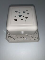 Lg Martha Stewart Square Magnetic Paper Press Punch Retired - Heart Hearts