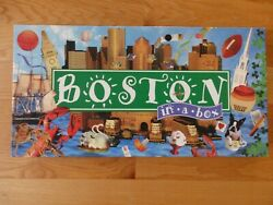 Boston in a Box Monopoly Type Game Excellent Condition Pewter Tokens