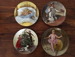 Edwin M. Knowles China Co.4 Porcelain Collector Platesvintage Original