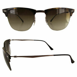 Ray Ban Mens RB8056 Clubmaster Light Ray Sunglasses Tortoise Brown Gradient $49.99