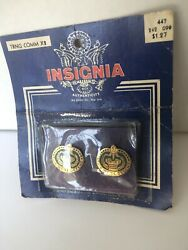 2 Vintage Nos Military Insignia Us Army Crest Pin This Weand039ll Defend Drill Inst
