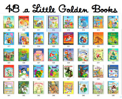 48 A Little Golden Book Lot Tootle Muppets Bambi Pooh Love Bug Christmas Bambi