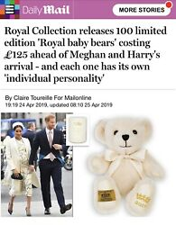 Official Royal Baby 2019 Teddy Bear Only 100 Made Worldwide - Sold Out 61/100