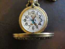 Mickey Mouse Railroad Pocket Watch By Sutton 1993 Walt Disney World With Out Box