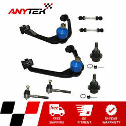 8pc Front Lower Control Arms Sway Bar Outer Tie Rod For 97-02 Expedition F-150