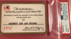 1950 New York Yankees Champs Psa Ticket Pass Whitey Ford 1st Win/j. Dimaggio