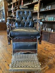 Antique Barber Chair From Ny Shaving Coandnbspwhere All Famous People Sat Andnbsp