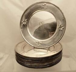 Set Of Twelve Silver Dinner Plates By Barbour Silver Co.