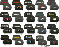 Fanmats Nfl 2-piece Embroidered Headrest Covers Cars Trucks Suv