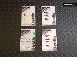 4x Of Vintage Bass Buster Beetle Spare Bodies Yellow White Black 1 Fishing Lure