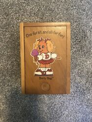 Vintage 80s The Get Along Gang Dotty Dog Playing Cards Unused With Wooden Box