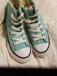 CONVERSE ALL STAR kids youth 11.5 Chuck Taylor Hi Top Sea Foam Green Excellent $32.00