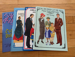 Tom Tierney Paper Doll Books American Family, Abraham Lincoln Lot Of 4