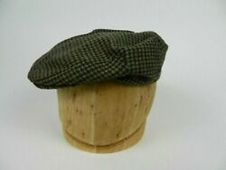 Page 21 Mens Hat Sz S Small Brown Beige Green Houndstooth Plaid Newsboy Cap Usa