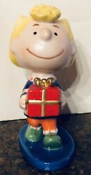 Rare Vintage Sally Porcelain Figure From Charlie Brown Peanuts By Ufs Inc.