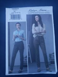 Womens/misses Easy Semi Fit Pull On Pants Sewing Pattern/vogue V9304/sz 6-14/ucn