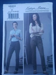 Womens/misses Easy Semi Fit Pull On Pants Sewing Pattern/vogue V9304 Sz 14 To 22