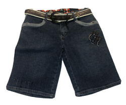 Rocawear Girls Jean Shorts With Belt- Girls Size 16- New With Tags
