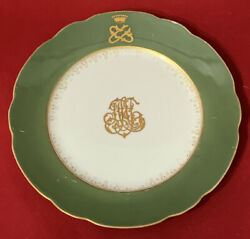 Antique Russian Imperial Plate Factory Kuznetsov From The Grand Duke's Service.