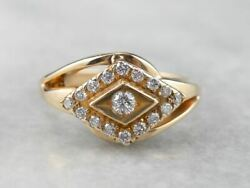 Diamond Gold East To West Statement Band