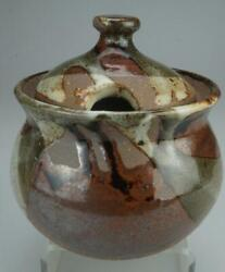 Kairi Pottery Sugar Bowl And Lid Signed To Base Kt Kim Tucker Nth Queensland Ze24