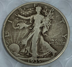 1935 D Liberty Walking Silver Half Dollar F-vf Free Shipping With Five Items A