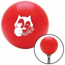 White Felix The Cat Thumbs Up Red Shift Knob Usa Shifter Auto Gear Trans Tree Si