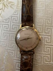 Jaeger-lecoultre 40s -50s Beautiful Pink Dial Color 18k Solid Gold