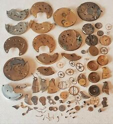 Large Antique Rockford Illinois Clock Pocket Watch Movements Replacement Parts
