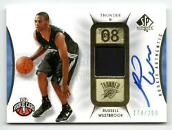 Nba Card 2008-09 Russell Westbrook Ud Sp Authentic Rookie Auto Patch 174/299