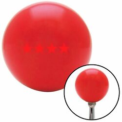 Red Officer 10 - Admiral Red Shift Knob Usa Shifter Auto Manual Stick Speed Drag