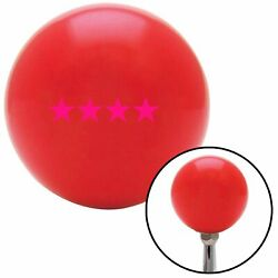 Pink Officer 10 - Admiral Red Shift Knob Usa Shifter Auto Manual Gear Car Stick