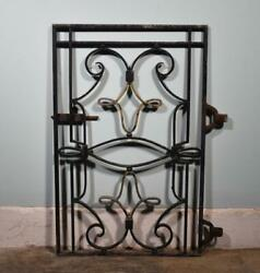 28 Inch Wide Antique French Iron Gate Salvage
